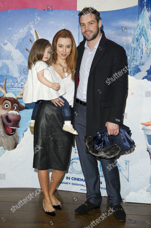 'Frozen' Sing-a-long Screening at the Soho Hotel Una Healy with Her Husband Ben Foden and Their Daughter Aoife Belle