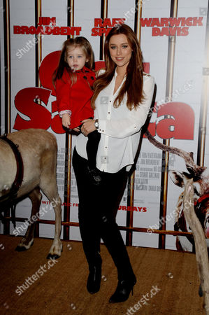 'Get Santa' Uk Premiere at the Vue Leicester Square Una Healy with Her Daughter Aoife Belle