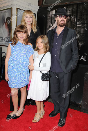 'Ghost' Press Night at the Piccadilly Theatre - Arrivals Dave Stewart with His Wife Anoushka Fisz and Daughters Kaya and Indya