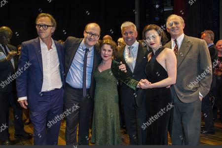 'Gypsy' Press Night at the Savoy Theatre; the Strand Jonathan Kent; Michael Harrison; Imelda Staunton; David Ian; Lara Pulver and Peter Davison