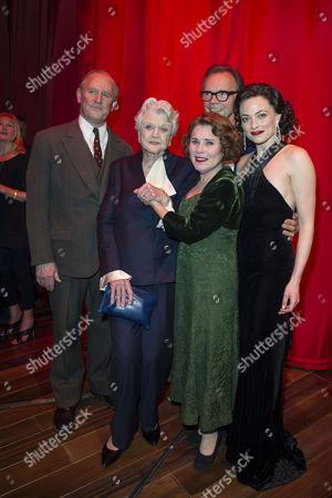 'Gypsy' Press Night at the Savoy Theatre; the Strand Peter Davison; Imelda Staunton; Lara Pulver; Jonathan Kent and Angela Lansbury