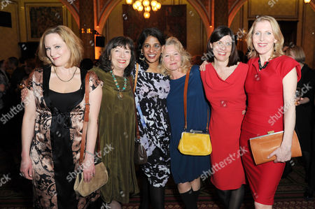 'Handbagged' Press Night Afterparty at the Royal Hourseguards Hotel Lucy Robinson Marion Bailey Stella Gonet Indhu Rubasingham Moira Buffini and Fenella Woolgar