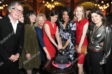 'Handbagged' Press Night Afterparty at the Royal Hourseguards Hotel Jeff Rawle Lucy Robinson Marion Bailey Stella Gonet Indhu Rubasingham Moira Buffini Fenella Woolgar and Neet Mohan