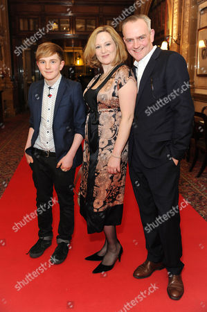 'Handbagged' Press Night Afterparty at the Royal Hourseguards Hotel Lucy Robinson with Her Husband Nicholas Murchie