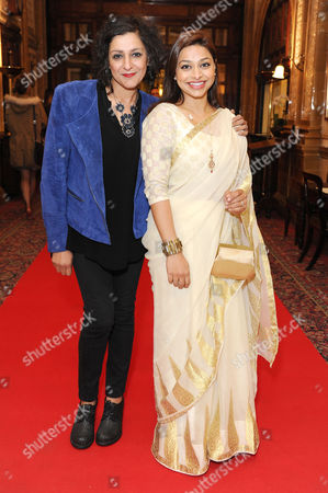 'Handbagged' Press Night Afterparty at the Royal Hourseguards Hotel Meera Syal and Ayesha Dharker