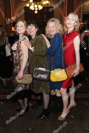 'Handbagged' Press Night Afterparty at the Royal Hourseguards Hotel Lucy Robinson Marion Bailey Stella Gonet and Fenella Woolgar
