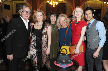 'Handbagged' Press Night Afterparty at the Royal Hourseguards Hotel Jeff Rawle Lucy Robinson Marion Bailey Stella Gonet Fenella Woolgar and Neet Mohan