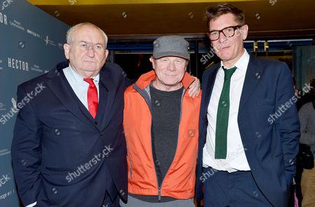 'Hector' Uk Premiere at the Cineworld Haymarket Lord John Bird Peter Mullan and Jake Gavin