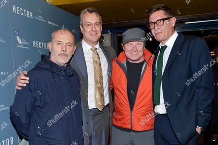'Hector' Uk Premiere at the Cineworld Haymarket Keith Allen Stephen Tompkinson Ewan Stewart and Director Jake Gavin