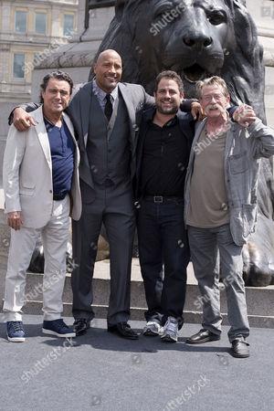 'Hercules' Photocall at Trafalgar Square Ian Mcshane Dwayne Johnson Brett Ratner and John Hurt