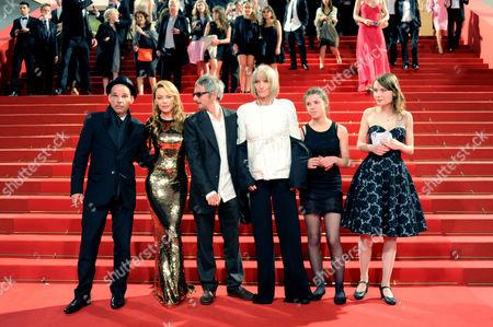 'Holy Motors' Red Carpet at Palais Des Festivals During the 65th Cannes Film Festival Denis Lavant Kylie Minogue Leos Carax Edith Scob Elise Lhomeau