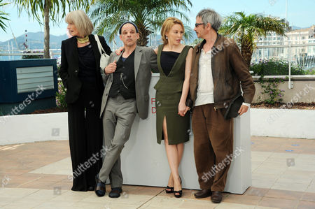 'Holy Motors' Photocall at Palais Des Festivals During the 65th Cannes Film Festival Edith Scob Denis Lavant Kylie Minogue and Director Leos Carax