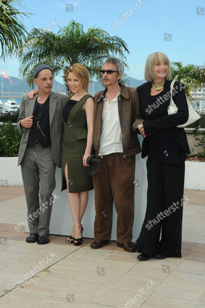 'Holy Motors' Photocall at Palais Des Festivals During the 65th Cannes Film Festival Denis Lavant Kylie Minogue Director Leos Carax and Edith Scob