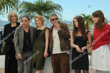 'Holy Motors' Photocall at Palais Des Festivals During the 65th Cannes Film Festival Edith Scob Denis Lavant Kylie Minogue Director Leos Carax Elisse Lhomeau