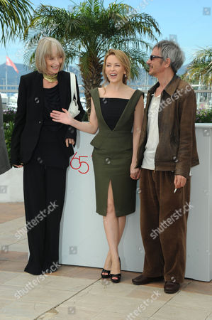 'Holy Motors' Photocall at Palais Des Festivals During the 65th Cannes Film Festival Edith Scob Kylie Minogue Director Leos Carax