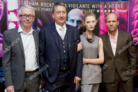 'Hummingbird' Premiere at the Odeon Westend Paul Webster Steven Knight Agata Buzek and Jason Statham