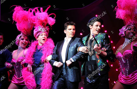 'I Can't Sing' Photocall at the London Palladium Billy Carter Nigel Harman and Alan Morrissey