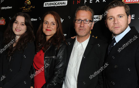 'In Fear' Uk Premiere at the Ica Alice Englert Nira Park (producer) Allen Leech and Jeremy Lovering (director)