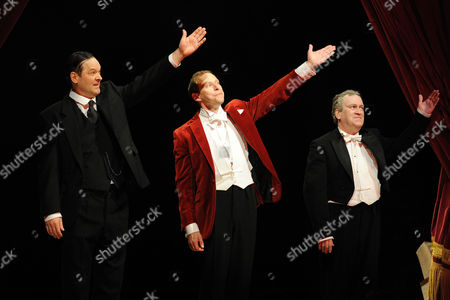 'Jeeves and Wooster' Cast Change Press Night at the Duke of York's Theatre St Martin's Lane Curtain Call - Mark Heap Robert Webb and Mark Hadfield
