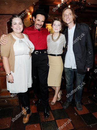 Stock Image of 'Jerusalem' Opening Night Transfer at the Apollo Theatre with Afterparty at Waxy O'connors Charlotte Mills Mark Rylance Aimèe-Ffion Edwards Mackenzie Crook