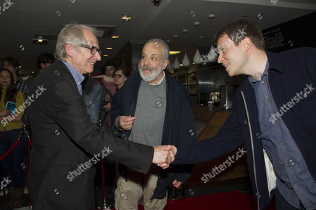 'Jimmy's Hall' Uk Premiere at the Bfi Southbank Ken Loach with Mike Leigh with His Son Leo Leigh