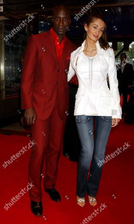 The European Premiere of 'Kingdom of Heaven' at the Empire Leicester Square Oswald Boateng with His Wife