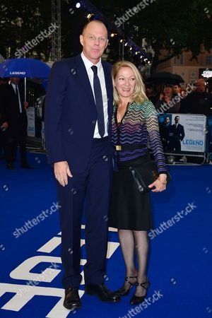'Legend World Premiere' at the Odeon Leicester Square Brian Helgeland with His Wife