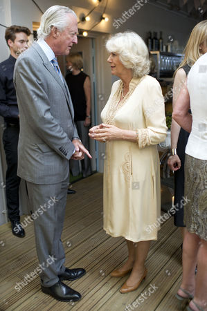 'Let's Eat Recipes From My Kitchen' Book Party at Selfridges Galen Weston and Camilla Duchess of Cornwall