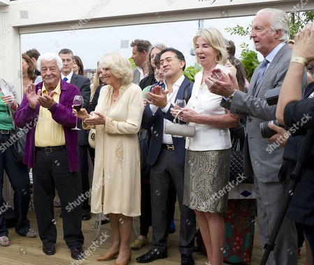 'Let's Eat Recipes From My Kitchen' Book Party at Selfridges Antonio Carluccio Camilla Duchess of Cornwall Listen to the Speeches with Galen and Hilary Weston