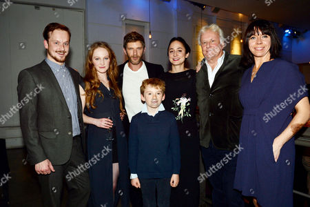 Stock Picture of 'Little Eyolf' Press Night at the Almeida Theatre Jolyon Coy Eve Ponsonby Sam Hazeldine Lydia Leonard Sir Richard Eyre Eileen Walsh and Tom Hibberd