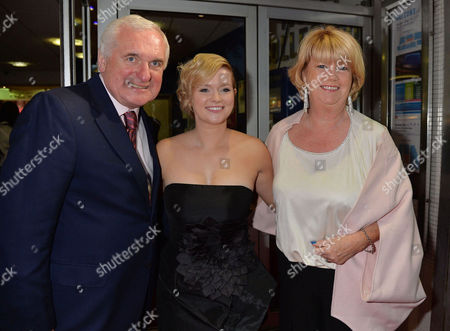'Love Rosie' World Premiere at the Odeon West End Leicester Square London Bertie Ahern with His Wife Miriam Ahern and Daughter Cecelia Ahern