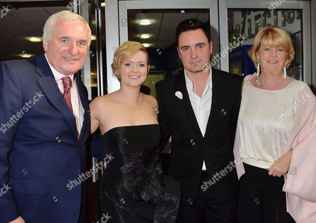 'Love Rosie' World Premiere at the Odeon West End Leicester Square London Bertie Ahern with His Wife Miriam Ahern and Daughter Cecelia Ahern and Her Husband