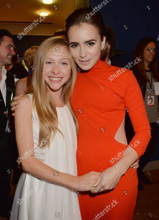 'Love Rosie' World Premiere at the Odeon West End Leicester Square London Lily Laight and Lily Collins