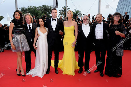 'Mad Max' Red Carpet at the Palais Des Festivals During the 68th Cannes Film Festival Courtney Eaton Doug Mitchell Zoe Kravitz Nicholas Hoult Charlize Theron George Miller Tom Hardy