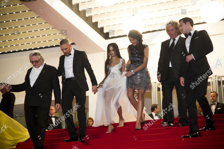 'Mad Max' Red Carpet at the Palais Des Festivals During the 68th Cannes Film Festival - Outs George Miller Tom Hardy Zoe Kravitz Courtney Eaton Doug Mitchell and Nicholas Hoult