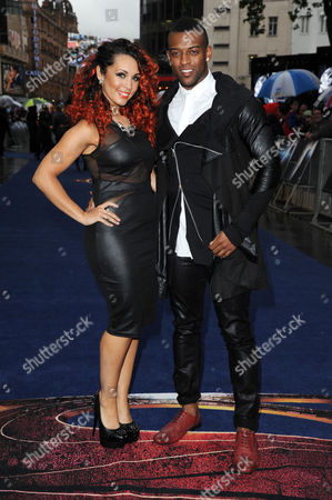 'Man of Steel' European Premiere at the Empire Leicester Square Oritse Williams with His Girlfriend Aimee Jade