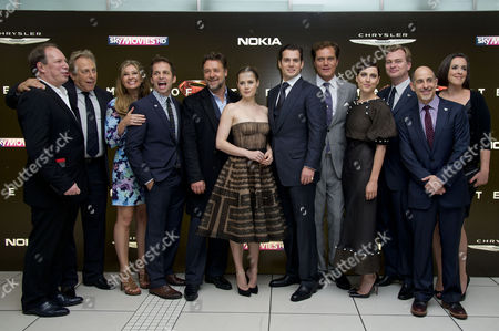 'Man of Steel' European Premiere at the Empire Leicester Square Charles Roven Hans Zimmer Deborah and Zack Snyder Russell Crowe Amy Adams Henry Cavill Michael Shannon Antje Traue Christopher Nolan and David S Goyer