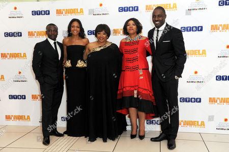 'Mandela - Long Walk to Freedom' Inside Arrivals Royal Film Premiere Tony Kgoroge Naomie Harris Zindzi Mandela and Her Sister Zenani Mandela with Idris Elba
