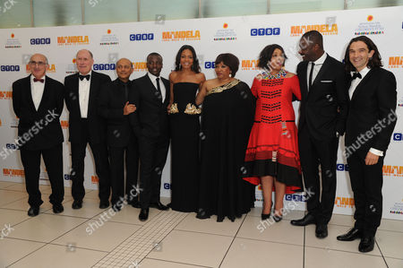 'Mandela - Long Walk to Freedom' Inside Arrivals Royal Film Premiere William Nicholson (writer) Anant Singh Tony Kgoroge Naomie Harris Zindzi Mandela and Her Sister Zenani Mandela with Idris Elba with the Director Justin Chadwick