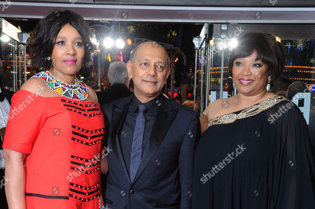 'Mandela - Long Walk to Freedom' Inside Arrivals Royal Film Premiere Zenani Mandela with Her Sister Zindzi Mandela Daughters of Nelson Mandela with the Film's Producer Anant Singh