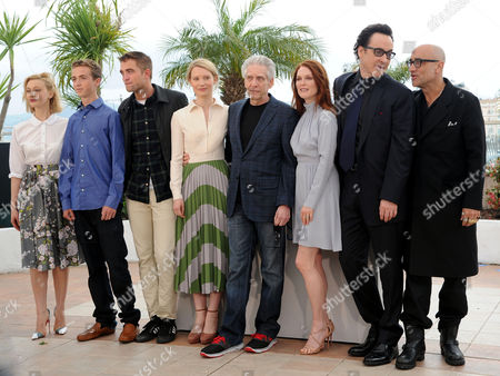 'Maps to the Stars' Photocall at the Palais Des Festivals During the 67th Cannes Film Festival Sarah Gadon Evan Bird Robert Pattinson Mia Wasikowska Director David Cronenberg Julianne Moore John Cusack and Bruce Wagner