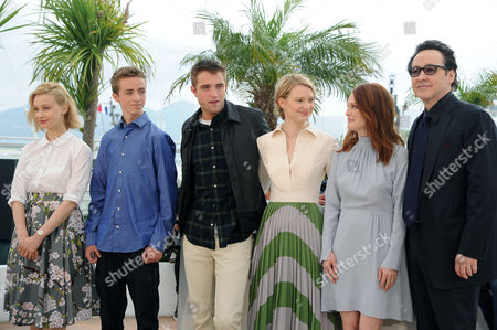 'Maps to the Stars' Photocall at the Palais Des Festivals During the 67th Cannes Film Festival Sarah Gadon Evan Bird Robert Pattinson Mia Wasikowska Julianne Moore and John Cusack