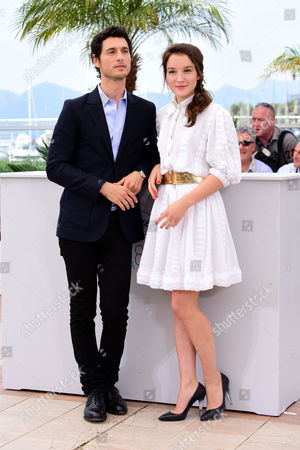 'Marguerite and Julien' Photocall at the Palais Des Festivals During the 68th Cannes Film Festival Jeremie Elkaim and Anais Demoustier