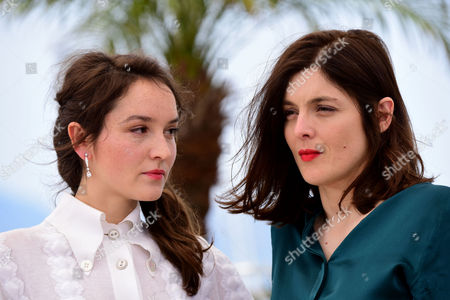 'Marguerite and Julien' Photocall at the Palais Des Festivals During the 68th Cannes Film Festival Anais Demoustier and Director Valerie Donzelli