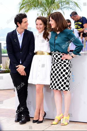 'Marguerite and Julien' Photocall at the Palais Des Festivals During the 68th Cannes Film Festival Jeremie Elkaim; Director Valerie Donzelli and Anais Demoustier