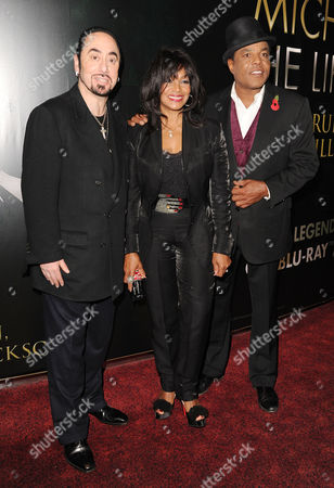 'Michael Jackson Life of an Icon' at the Empire Leicester Square David Gest Rebbie Jackson and Tito Jackson
