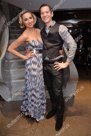 'Miss Atomic Bomb' Press Night at St James Theatre Kerry Howard and Her Husband Gabriel Vick