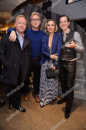 'Miss Atomic Bomb' Press Night at St James Theatre Brothers Daniel Howard and Russell Howard with Their Sister Kerry Howard and Her Husband Gabriel Vick