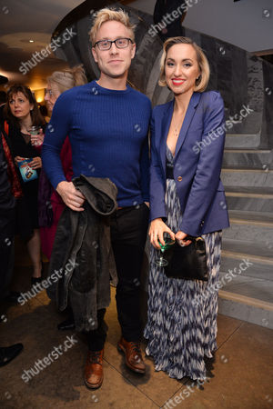 'Miss Atomic Bomb' Press Night at St James Theatre Russell Howard with His Sister Kerry Howard