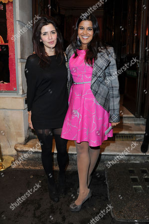 'Much Ado About Nothing' Royal Shakespeare Company Press Night Arrivals at the Noel Coward Theatre St Martins Lane Poojah Shah (r)